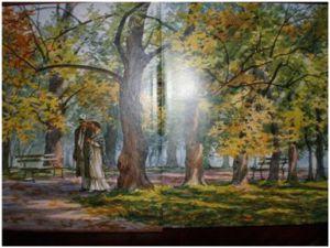 Иллюстрация к сборнику Бунина И.А. « Тёмные аллеи»